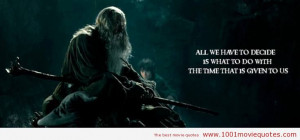 The Lord of the Rings The Fellowship of the Ring (2001) quote