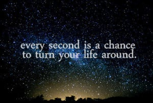 chance, inspirational, life, night, sky, stars, text, time