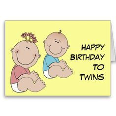Tnmgraphic, Happy Birthday To Twin, Birthdays, Birthday Cards, Hbd ...