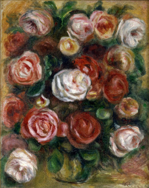 Vase of Roses by Renoir