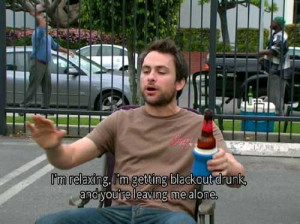 charlie day charlie kelly drunk beer it s always sunny it s always ...