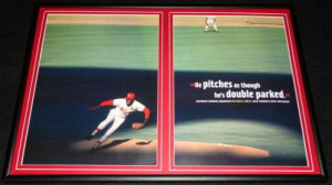 ... Bob Gibson > Bob Gibson Cardinals Framed 12x18 Photo & Quote Display