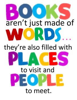 ... places to visit and people to meet. 6 mini posters for READING Corner