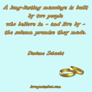 long-lasting marriage is built by two people who believe in – and ...