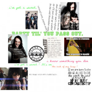 random bands and quotes from them - Polyvore