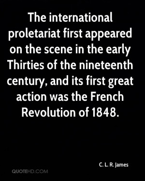 proletariat first appeared on the scene in the early Thirties ...