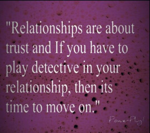 When there is no trust in a relationship