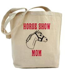 Horse Show Mom Tote Bag for