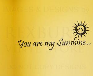 ... -Sticker-Quote-Vinyl-Art-Letter-You-Are-My-Sunshine-Babys-Nursery-K40