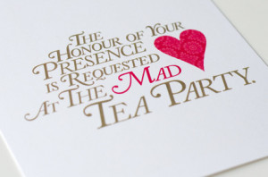 Alice in Wonderland Tea Party Quotes