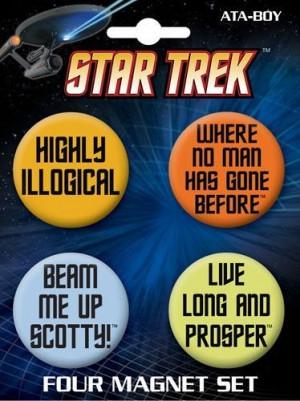 Star Trek Quotes Round Magnet Set 40087RM4 by Ata Boy, http://www ...
