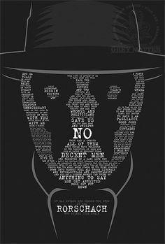 Rorschach Watchmen Quote Print by ~MarkItZeroNET on deviantART More