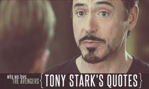 Tony Stark's quotes