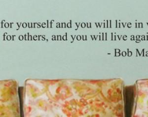 ... BOB MARLEY quote decal sticker wall reggae beautiful words music rasta