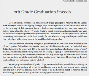 8th grade graduation speeches free essays - studymode, 8th grade ...