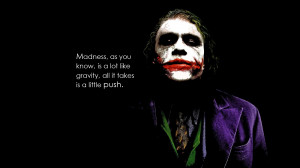 Joker quote from the dark knight