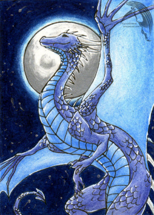 Inheritance Cycle ACEO: Saphira by FallenZephyr