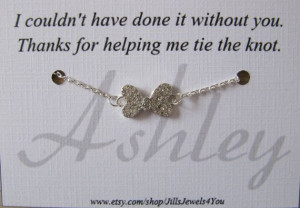 Bridesmaid Bow Charm Bracelet with Personalized by JillsJewels4You, $ ...
