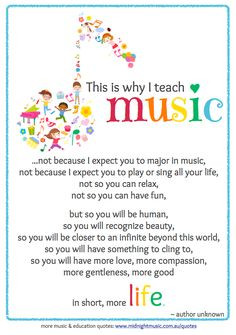 This is why I teach music poem. More