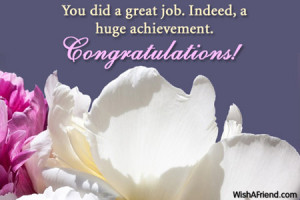 Congratulations Images For Achievement Indeed, a huge achievement.