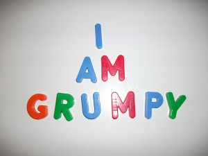 How do I know I'm grumpy: