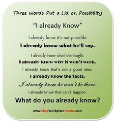 Three words put a lid on possibility.