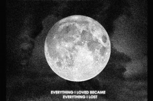 black and white, full moon, love, moon, night, quote, true life, truth ...