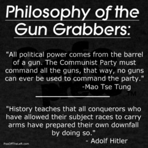 ... gun grabbing politicians want to take the guns from you, but not from