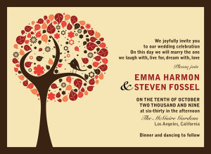 Fall Wedding Invitations Ideas for Your Autumn Weddings M9bq4FQ5