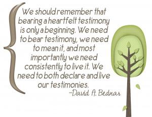 LDS Testimony Quotes