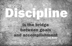 ... Is The Bridge Between Goals And Accomplishment - Dicipline Quotes