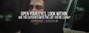 Bob Marley Open Your Eyes Quote Facebook Cover