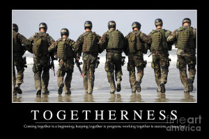 Togetherness Inspirational Quote Photograph