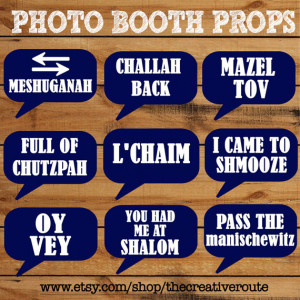 ... props for Bar Mitzvah Bat Mitzvah Wedding Holiday or any Jewish event