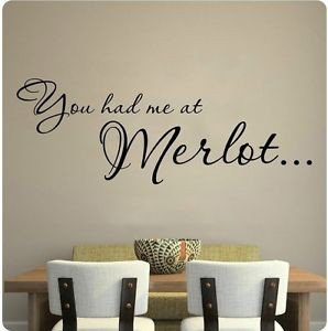 You-Had-Me-At-Merlot-Red-Wine-Kitchen-Grapes-Wall-Decal-Sticker-Hello ...