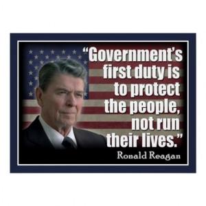 President Ronald Reagan Quote Poster. Ronald Reagan quote: Government ...