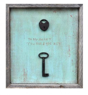 Home Framed Quote - Key to My Heart