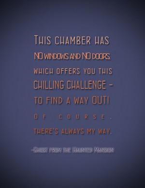 Haunted Mansion Quote Halloween Disney