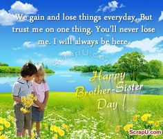 happy siblings day quotes   Happy Brother-Sister Day Graphics More