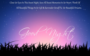 Good Night Sweet Dreams Quote Wallpaper Image