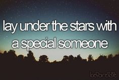 Lay Under The Stars With A Special Someone