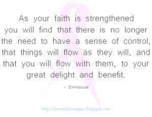 As your faith is strengthened