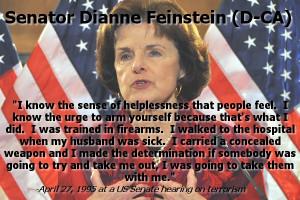 """Hypocrite Dianne Feinstein: Assault Guns are Unnecessary """"Personal ..."""