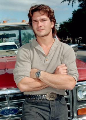 Young and handsome, Swayze in 1985. Fans were saddened to watch him ...