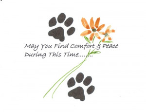 Pet sympathy ecard for someone who has lost his/ her dear pet.