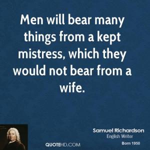 Samuel Richardson Men Quotes