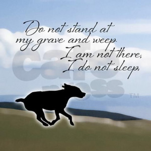 Dog Memorial - one of my favorite poems