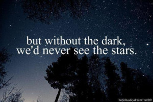 night, quote, stars