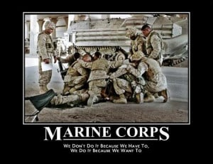 These are the Marines and the SEALS. The police force aped the idea ...
