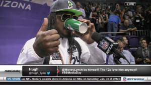 """Marshawn Lynch's Line of the Week: """"I'm Just Here So I Won't ..."""